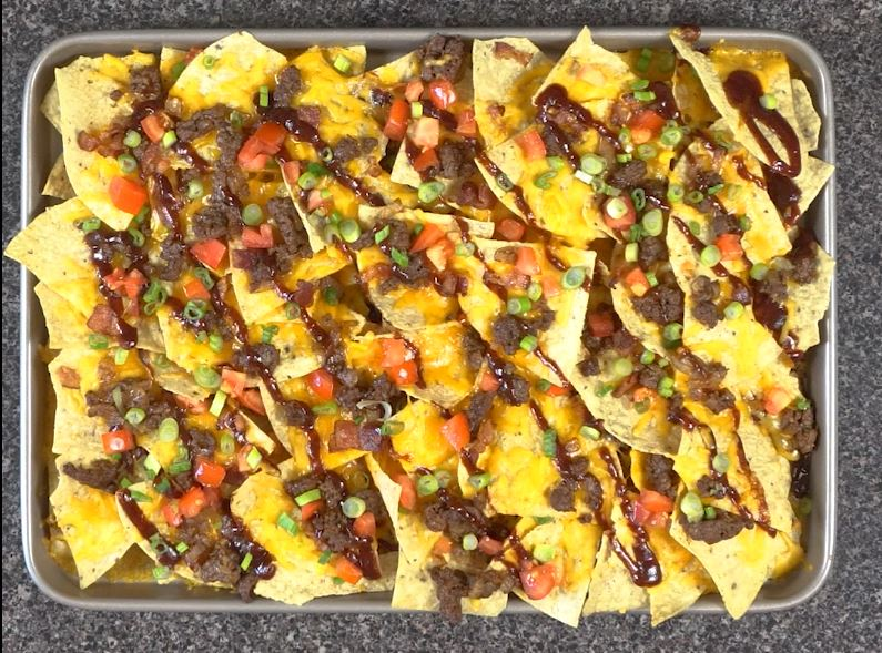 BBQ Bacon Cheeseburger Nachos